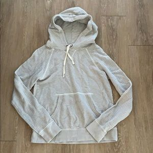 J. Crew Striped Lightweight Hooded Top